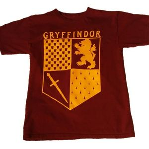 Harry Potter GRYFFINDOR YELLOW SHIELD T-Shirt S